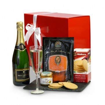 The Smoked Salmon and Champagne Gift Box