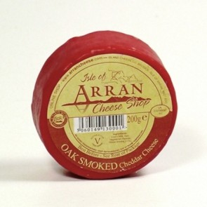 Arran oak smoked flavoured cheddar cheese 200g truckle